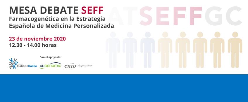 Mesa Debate Virtual: Farmacogenética en la estrategia Española de Medicina Personalizada. 23 de noviembre de 12:30 a 14:00 horas.