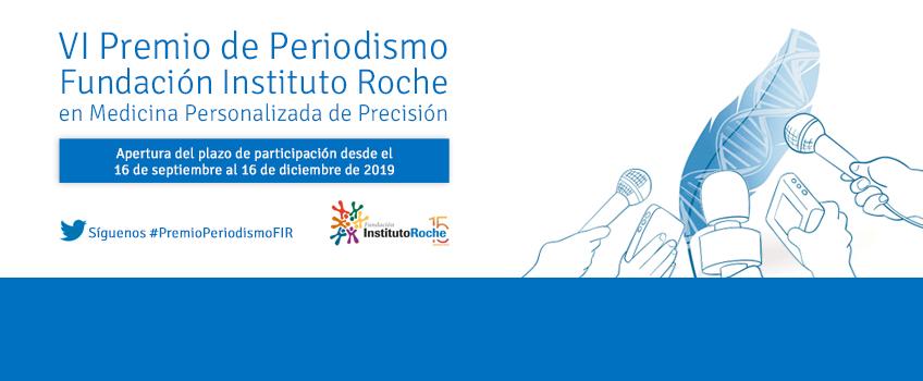 Abierto el plazo de presentación de candidaturas para el VI Premio de Periodismo de la Fundación Instituto Roche