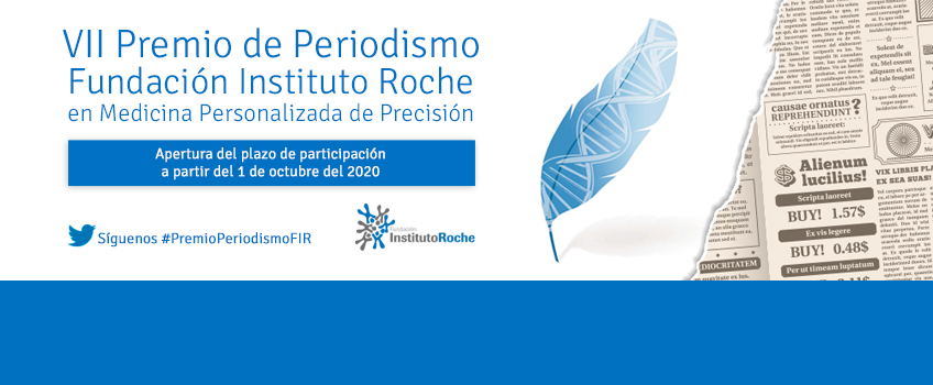 VII Premio de Periodismo Fundación Instituto Roche. Apertura del plazo de inscripción 1 de octubre.
