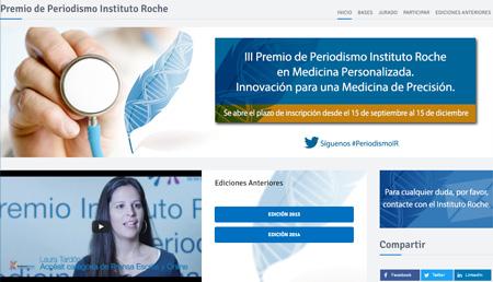 III Premio de Periodismo Instituto Roche en Medicina Personalizada