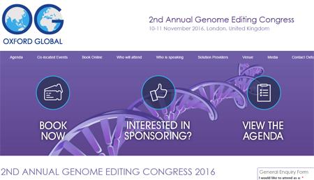 2nd Annual Genome Editing Congress 2016