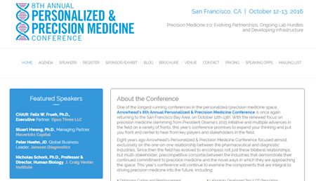 The 8th Annual Personalized and Precision Medicine Conference
