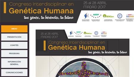 I Congreso de Genética Humana. Madrid, 25-28 de abril 2017
