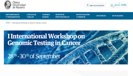 International Workshop on Genomic Testing in Cancer CUN, Pamplona