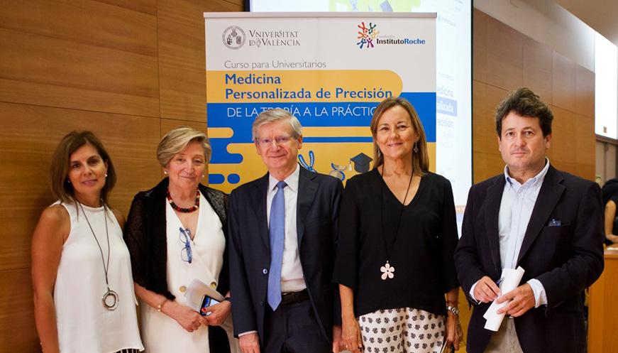 La Medicina Personalizada de Precisión llega a la universidad, de la mano de la Fundación Instituto Roche y la Universitat de València