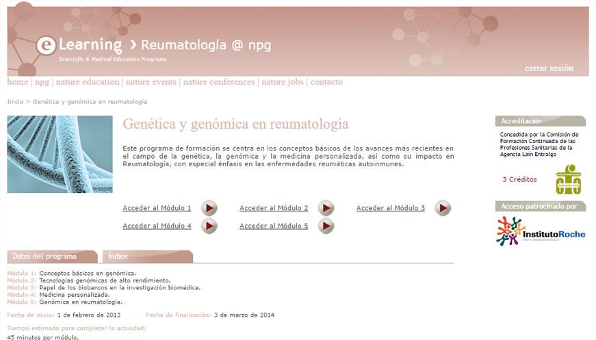 """Curso """"Genética y Genómica en Reumatología"""""""