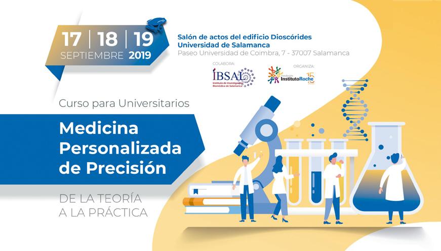 Se abre el plazo de inscripción del curso para universitarios 'Medicina Personalizada de Precisión, de la teoría a la práctica' dirigido a alumnos de la Universidad de Salamanca