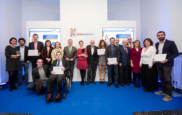 Premiados y Jurado III Premio Periodismo Insituto Roche en Medicina Personalizada