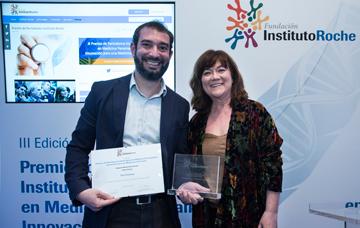 Pere Estupinya, Primer Premio Medios Audiovisuales y Coral Larrosa (miembro del jurado)