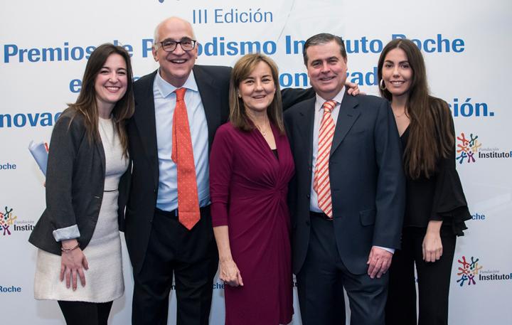 Celia Bolumburu, Federico Plaza, Consuelo Martín de Dios, Francisco Serrano y Natalia Llopart. Fundación Instituto Roche