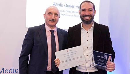 Alipio Gutiérrez y Pere Estupinyá - Primer premio Medios Audiovisuales