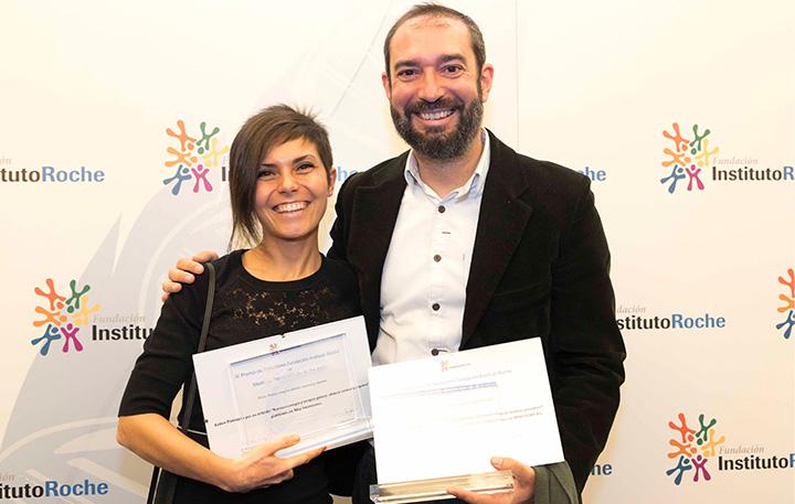 María Valerio, Primer Premio Prensa escrita y online y José Luis de la Serna (Miembro del Jurado)