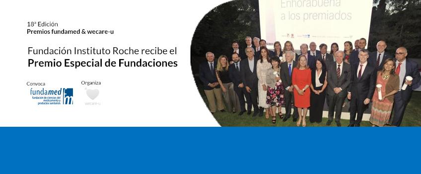 La Fundación Instituto Roche galardonada con el Premio Fundaciones en la 18ª edición de los Premios Fundamed & Wecare-U