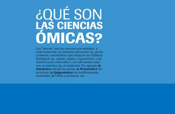 Infografía sobre las ciencias ómicas