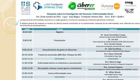 Simposio sobre la Investigación del Genoma: Enfermedades Raras