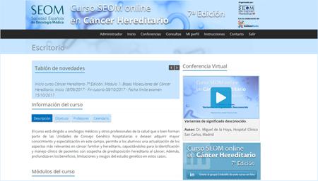 Comienza el 7º Curso SEOM online en Cáncer Hereditario