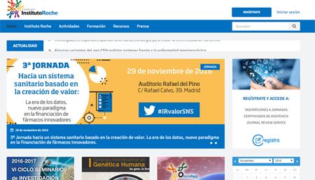La Fundación Instituto Roche renueva su página web