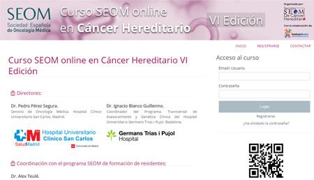 Se abre el plazo de inscripción al VI Curso online SEOM-Instituto Roche en Cáncer Hereditario