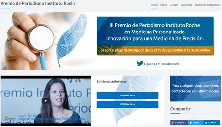 Convocada la III Edición del Premio de Periodismo Instituto Roche en Medicina Personalizada y de Precisión
